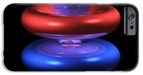 4fz3 iPhone Cases - 4fz3 Electron Orbital iPhone Case by Dr Mark J. Winter
