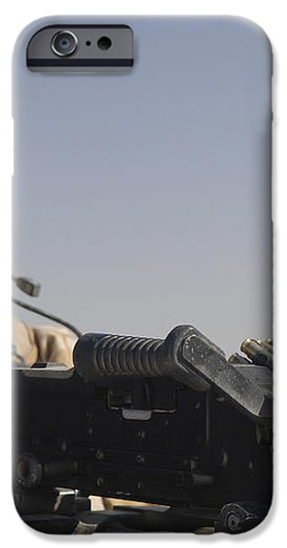 A British Army Soldier Mans A Machine iPhone Case by Andrew Chittock