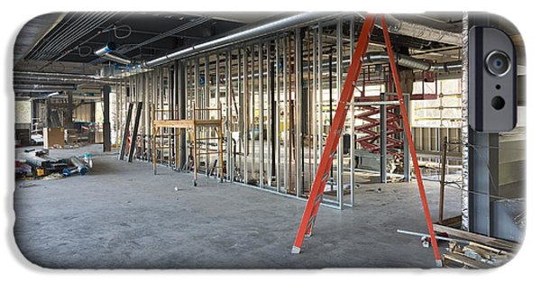 Construction Frame iPhone Cases - A Commercial Building iPhone Case by Don Mason
