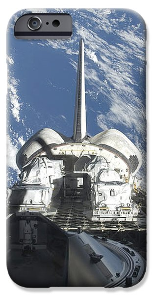 A Partial View Of Space Shuttle iPhone Case by Stocktrek Images