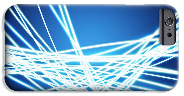 Electronics iPhone Cases - Abstract of weaving line iPhone Case by Setsiri Silapasuwanchai