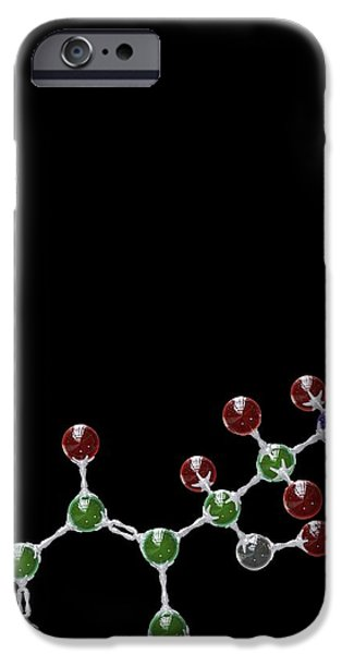 Adrenaline iPhone Cases - Adrenaline Hormone Molecule iPhone Case by David Mack