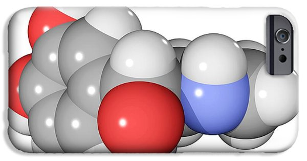 Adrenaline iPhone Cases - Adrenaline Hormone Molecule iPhone Case by Laguna Design