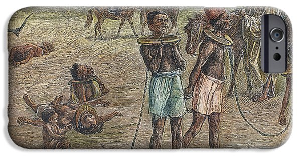 Fez iPhone Cases - Africa: Slave Trade, 1889 iPhone Case by Granger