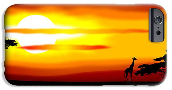 Gloaming iPhone Cases - Africa sunset iPhone Case by Michal Boubin