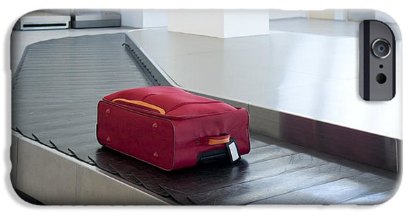 Conveyor Belt iPhone Cases - Airport Baggage Claim iPhone Case by Jaak Nilson