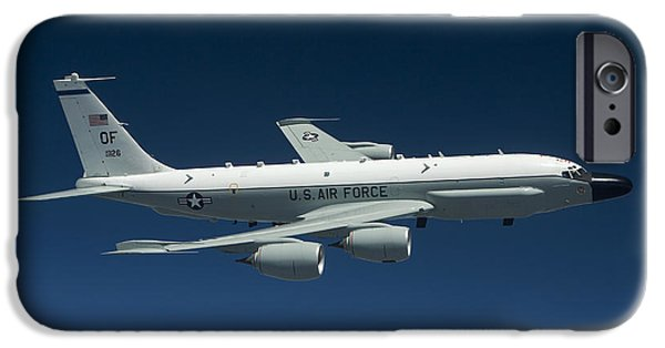 Best Sellers -  - Nebraska iPhone Cases - An Rc-135w Rivet Joint Aircraft Flies iPhone Case by HIGH-G Productions
