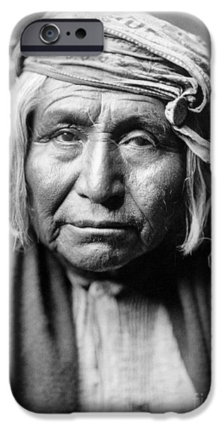 Native iPhone Cases - APACHE MAN, c1906 iPhone Case by Granger