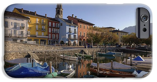 Ascona iPhone Cases - Ascona - Lake Maggiore iPhone Case by Joana Kruse