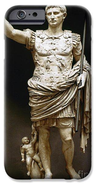 Best Sellers -  - Statue Portrait iPhone Cases - Augustus (63 B.c.-14 A.d.) iPhone Case by Granger