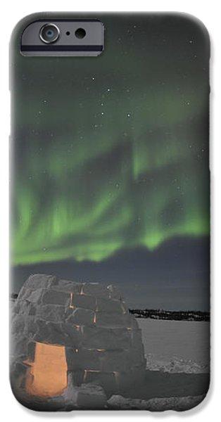 Aurora Borealis Over An Igloo On Walsh iPhone Case by Jiri Hermann