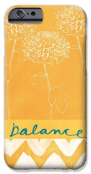 Florals Mixed Media iPhone Cases - Balance iPhone Case by Linda Woods