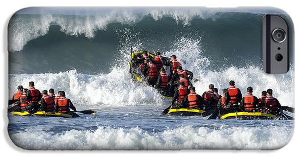 Raft iPhone Cases - Basic Underwater Demolitionseal iPhone Case by Stocktrek Images