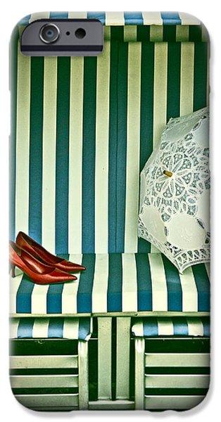 beach chair iPhone Case by Joana Kruse