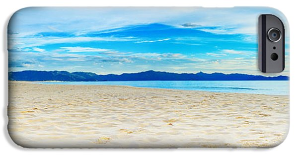 Sea iPhone Cases - Beach panorama iPhone Case by MotHaiBaPhoto Prints
