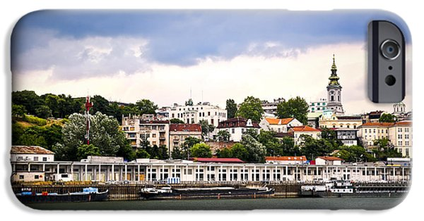 Serbia iPhone Cases - Belgrade cityscape on Danube iPhone Case by Elena Elisseeva