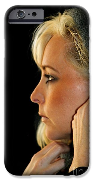 Blond Woman iPhone Case by Henrik Lehnerer