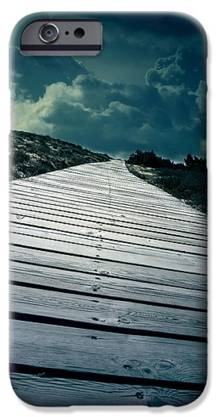 Eerie Photographs iPhone Cases - Boardwalk iPhone Case by Joana Kruse