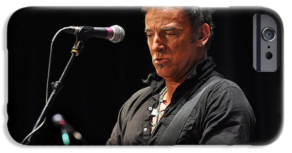New Jersey iPhone Cases - Bruce Springsteen iPhone Case by Jeff Ross