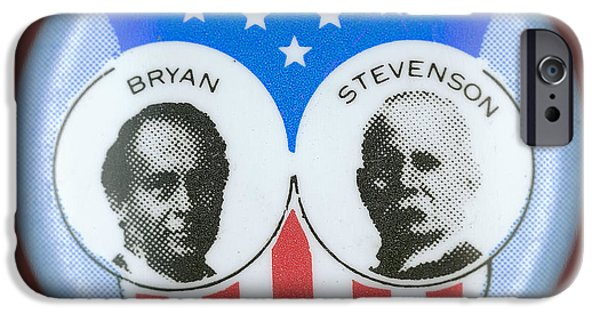 Ewing iPhone Cases - Bryan Campaign Button iPhone Case by Granger