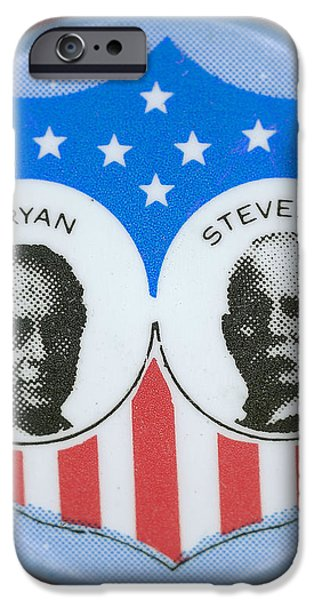 BRYAN CAMPAIGN BUTTON iPhone Case by Granger
