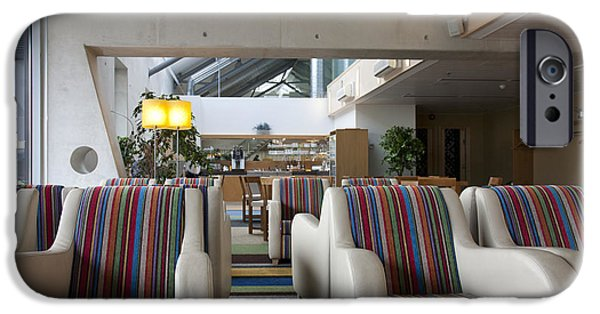 Airline Industry iPhone Cases - Business Lounge at an Airport iPhone Case by Jaak Nilson