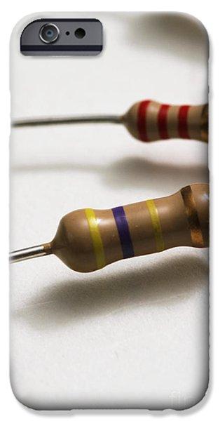 Carbon Film Resistors iPhone Case by Photo Researchers, Inc.