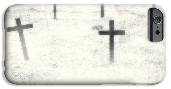 Cemetery iPhone Cases - Cemetery iPhone Case by Joana Kruse