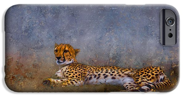 Cheetah Digital Art iPhone Cases - Cheetah iPhone Case by Ron Jones