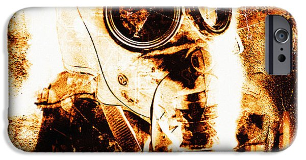 Terrorism iPhone Cases - Chemical Warfare iPhone Case by Mehau Kulyk