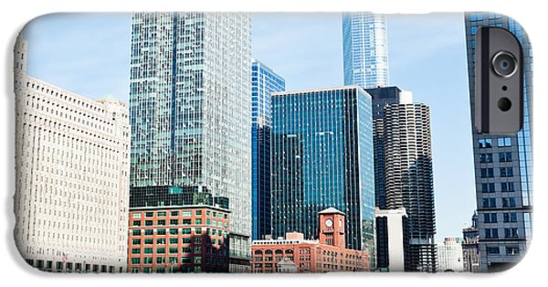 Merchandise iPhone Cases - Chicago River Skyline iPhone Case by Paul Velgos