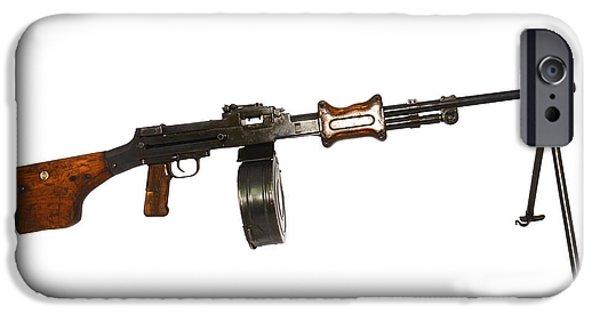 Copy Machine iPhone Cases - Chinese Type 56 Light Machine Gun iPhone Case by Andrew Chittock