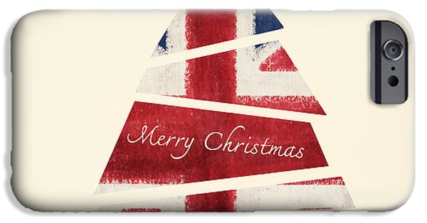 Christmas Greeting iPhone Cases - Christmas Card iPhone Case by Setsiri Silapasuwanchai