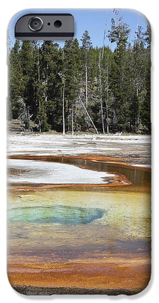 Chromatic Pool Hot Spring, Upper Geyser iPhone Case by Richard Roscoe