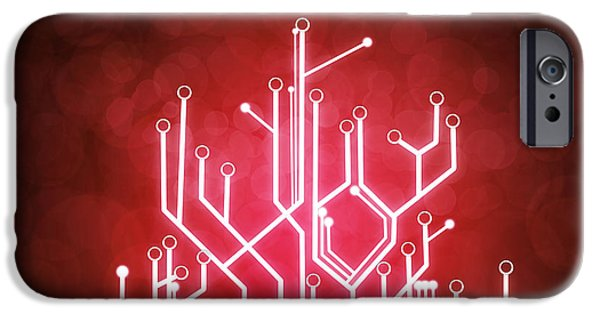 Recently Sold -  - Tree Art Print iPhone Cases - Circuit Board iPhone Case by Setsiri Silapasuwanchai