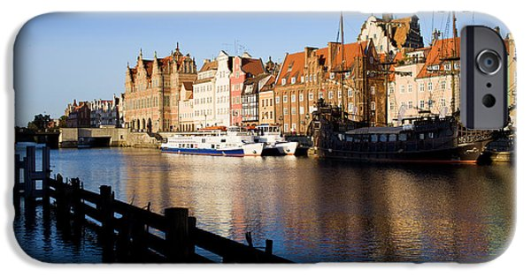 Marine iPhone Cases - City of Gdansk in Poland iPhone Case by Artur Bogacki