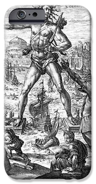 COLOSSUS OF RHODES iPhone Case by Granger