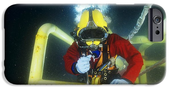 Dismantled iPhone Cases - Commercial Diver iPhone Case by Alexis Rosenfeld