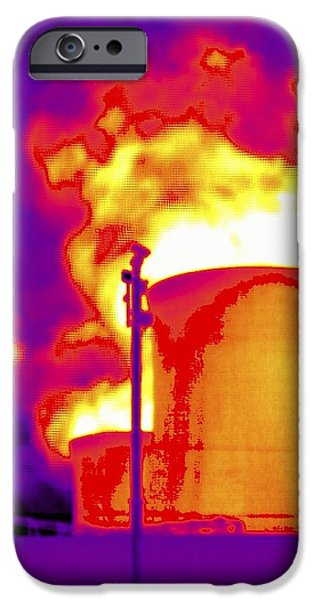 False Power iPhone Cases - Cooling Towers, Thermogram iPhone Case by Tony Mcconnell
