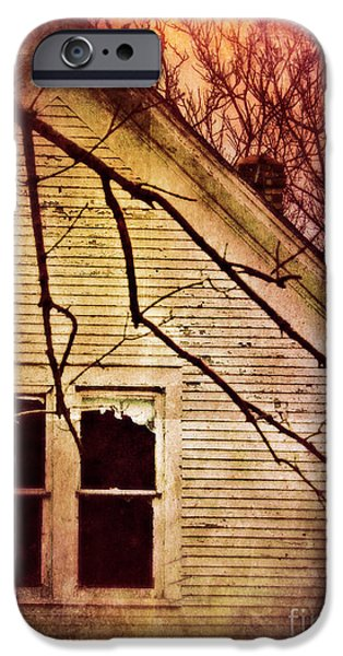 Creepy Abandoned House iPhone Case by Jill Battaglia