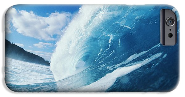 Slick iPhone Cases - Curling Wave iPhone Case by Ali ONeal - Printscapes