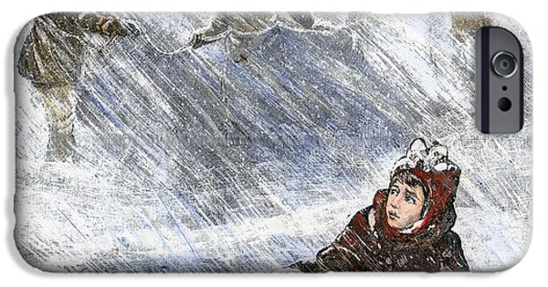 Missing Child iPhone Cases - Dakota Blizzard, 1888 iPhone Case by Granger