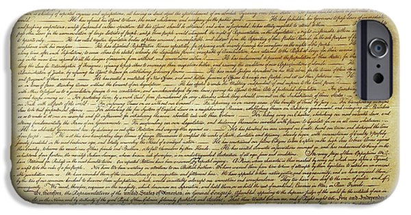American Revolution iPhone Cases - Declaration Of Independence iPhone Case by Photo Researchers, Inc.