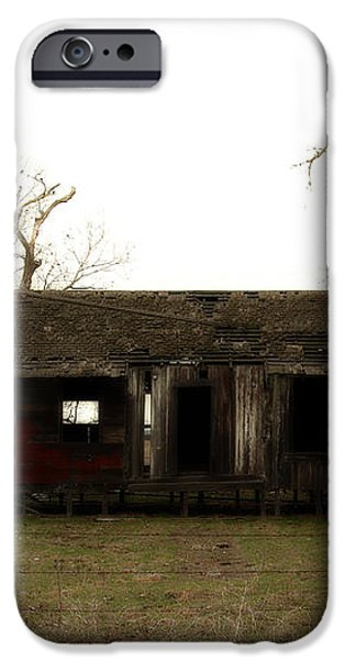 Dilapidated Old Farm House . 7D10341 iPhone Case by Wingsdomain Art and Photography