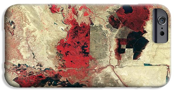 1990 iPhone Cases - Disappearing Marshlands In Southern iPhone Case by NASA / Science Source