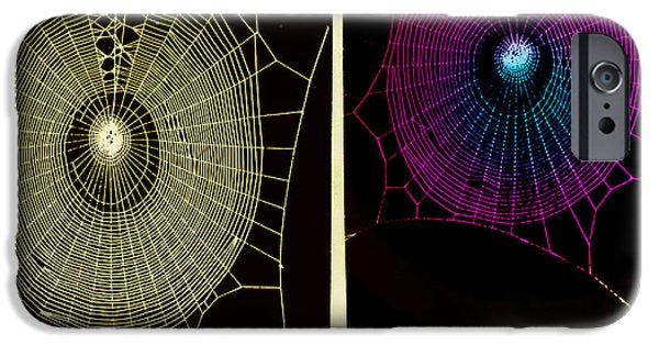 Arachnida iPhone Cases - Effect Of Psilocybin iPhone Case by Omikron