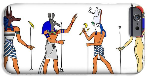 Horus iPhone Cases - Egyptian Gods and Goddess iPhone Case by Michal Boubin