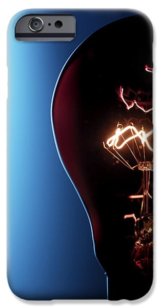 Technology iPhone Cases - Electric Lightbulb iPhone Case by Tek Image