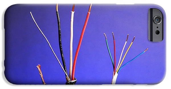 Electrical Component Photographs iPhone Cases - Electrical Cable iPhone Case by Photo Researchers, Inc.