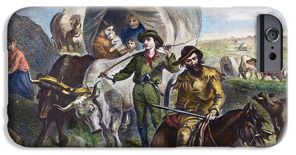 Destiny iPhone Cases - Emigrants To West, 1874 iPhone Case by Granger